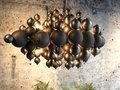 Blow -  Hanglamp 2 kleurig  metaal bollen,Industrial dark/light